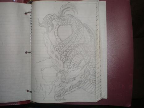 Dragon (Unfinished). by Memphis-Creasy
