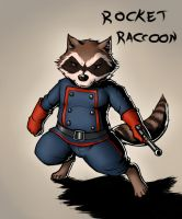 Rocket Raccoon (colored) by ShinodaHamazaki