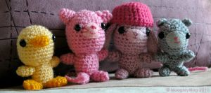 Amigurumi - Animal Group by MoogleyMog