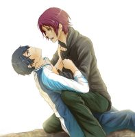 Rin and Haru by andungen