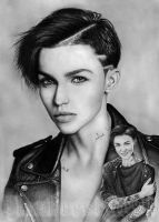 Ruby Rose DRAWING by Yankeestyle94