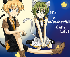 It's a Wonderful Cat's Life!-len and Gumi by SomeJaneDoe