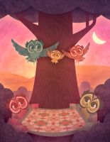 Owl Family by Skypher