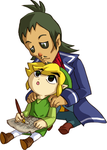 Linebeck and Link by CrimsonxCrime