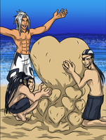 For the KH Summer Contest: XXX Sand Castle by Dark-Momento-Mori