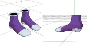 Arches shoes mmd by RoxaDragonsoul