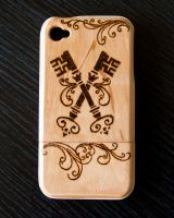 Victorian Keys iPhone 4/s Wood Case by CrystalKittyCat