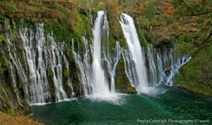 Waterfall - Burney Falls by La-Vita-a-Bella
