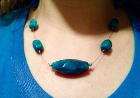 Turquoise Stone necklace by Adriellovesart