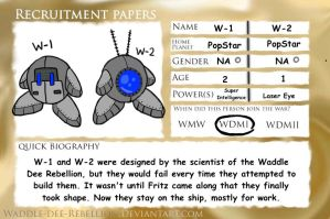 Recruitment Papers - W-1 and W-2 by Slayer-of-Eternity