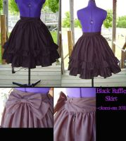 Black Ruffle Skirt by okami-san