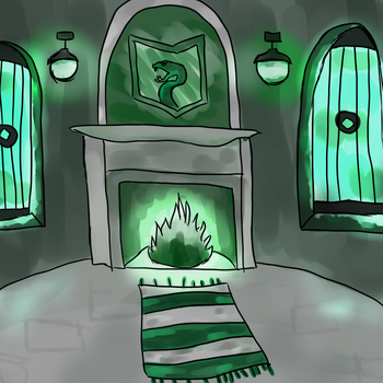 Slytherin Common Room by KatGryffin
