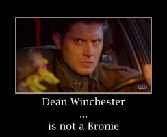 Dean Winchester... is not a Bronie by Animikean