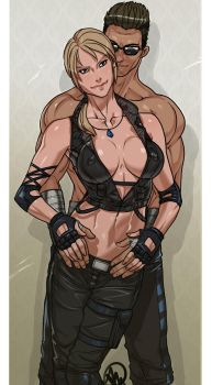 Sonya Blade and Johnny Cage - SFW by Ganassa