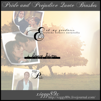 Pride and Prejudice Brushes by xiggy01x