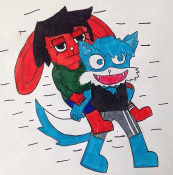 Miserable piggyback ride (AT) by TreeFriendsWrestling