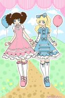 .Sweet Lolita.EmilyandFriend. by patternfactory