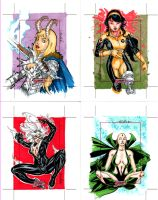 Marvel Dangerous Divas cards 4 by SpiderGuile