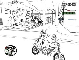 GTA San Andreas coloring page2 by plaidsandstripes