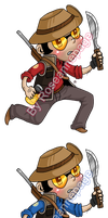 TF2 stickers: Sniper by roseannepage