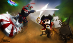 Pirate versus Ninja by GR3G0R