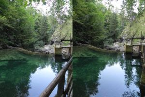 Stereoscopic dam from the top by GizmoX7