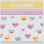 {SAI resources} Unlovable Brushes by ASlovesLisa