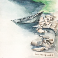 riverbed in watercolors by ParkashN