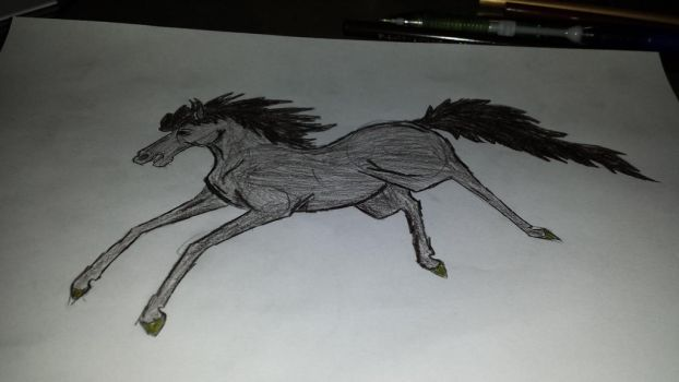 some random horse I drew by LordAresWar