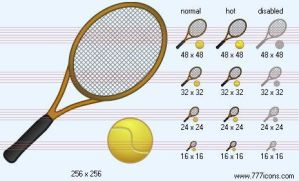 Tennis Icon by sport-icons