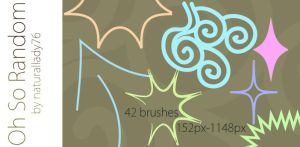 Oh So Random:Brush Set: by naturallady76