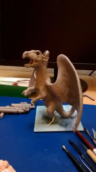 WIP Dragon Sculpt by philosophyfox
