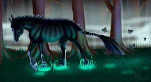 Wild Mountain Equid entry : Butterfly by TheLotusWolf