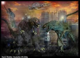 godzilla vs zilla by darkriddle1