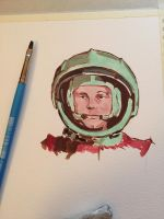Cosmonaut Sketch by stroantree
