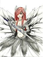 Erza armure de la nature by MidnightlityDreams