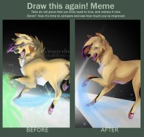 Draw this again meme - follow me down by Sabi-Arts