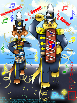 Collab: Marching Swat Kats (colored) by BlueMario1016