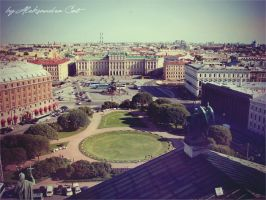 View from the top of the Kazan Cathedral by Aleksandra-Cat