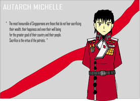 Autarch Michelle Propaganda Poster by Target21