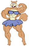Muscle Sandy Flexing by TheFranksterChannel
