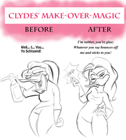 Clydes makeover-magic by FrothingLizard