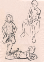 old figure drawings by PirateQueenErin