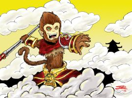 Wukong in Flight by NUbigred