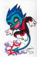 Chibi-Nightcrawler. by hedbonstudios