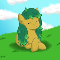 Grass Roots Sunbathing by MermaidSoupButtons