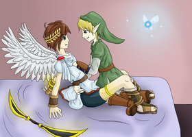 Link x Pit by Saturnella