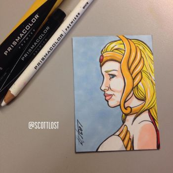 SheRa sketchcard by Scott-Lost