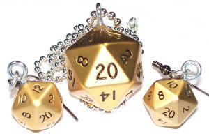 Golden Metal d20 Set by Jennifer-EA