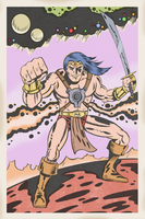 JACK KIRBY STYLE JOHN CARTER OF MARS by paintmarvels